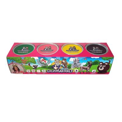 4 színű gyurmakészlet (rózsaszín csomagolásban)