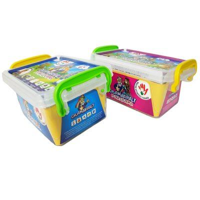 6 színű gyurmakészlet (foganytyús dobozban)