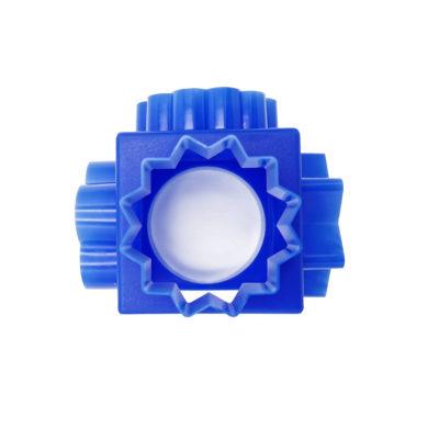 Kocka alakú gyurma kiszúró (Kék)