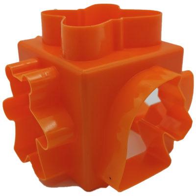Kocka alakú gyurma kiszúró (Narancs)