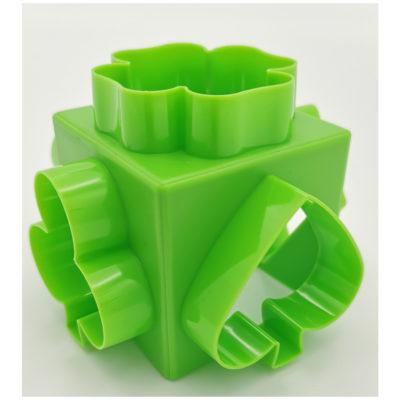 Kocka alakú gyurma kiszúró (Zöld)