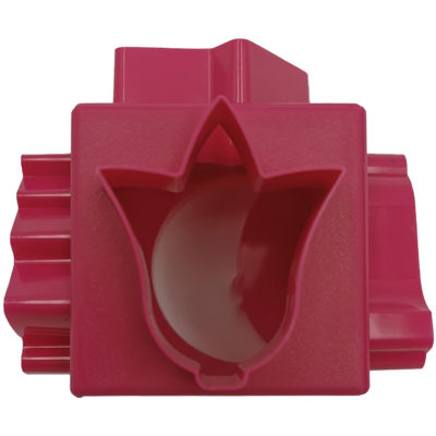 Kocka alakú gyurma kiszúró (Piros)
