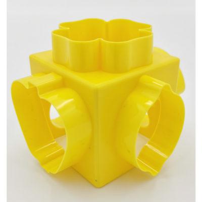 Kocka alakú gyurma kiszúró (Sárga)